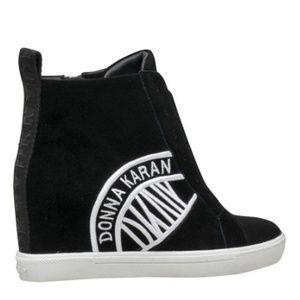 DKNY CASSIE Suede Wedge Sneakers